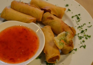 Vegetable Spring Rolls w/Sweet Orange Chile Sauce